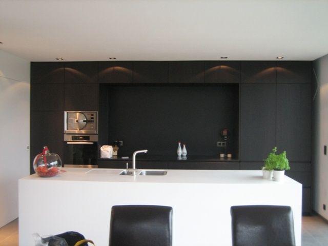 Afbeeldingsresultaat voor keuken zwart wit hout kuchnia