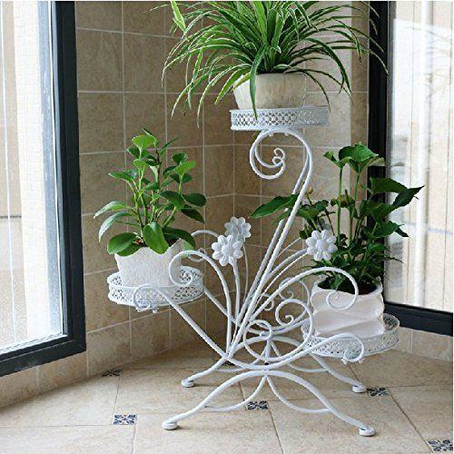 Metal Floor Standing Wrought Iron Pot Plant Stand Flower