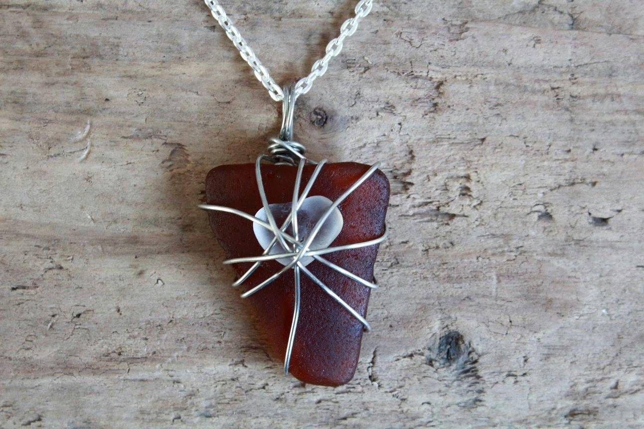 Mothers Day Sea Glass Necklace, Irish Gifts, Sea Glass Jewelry ...