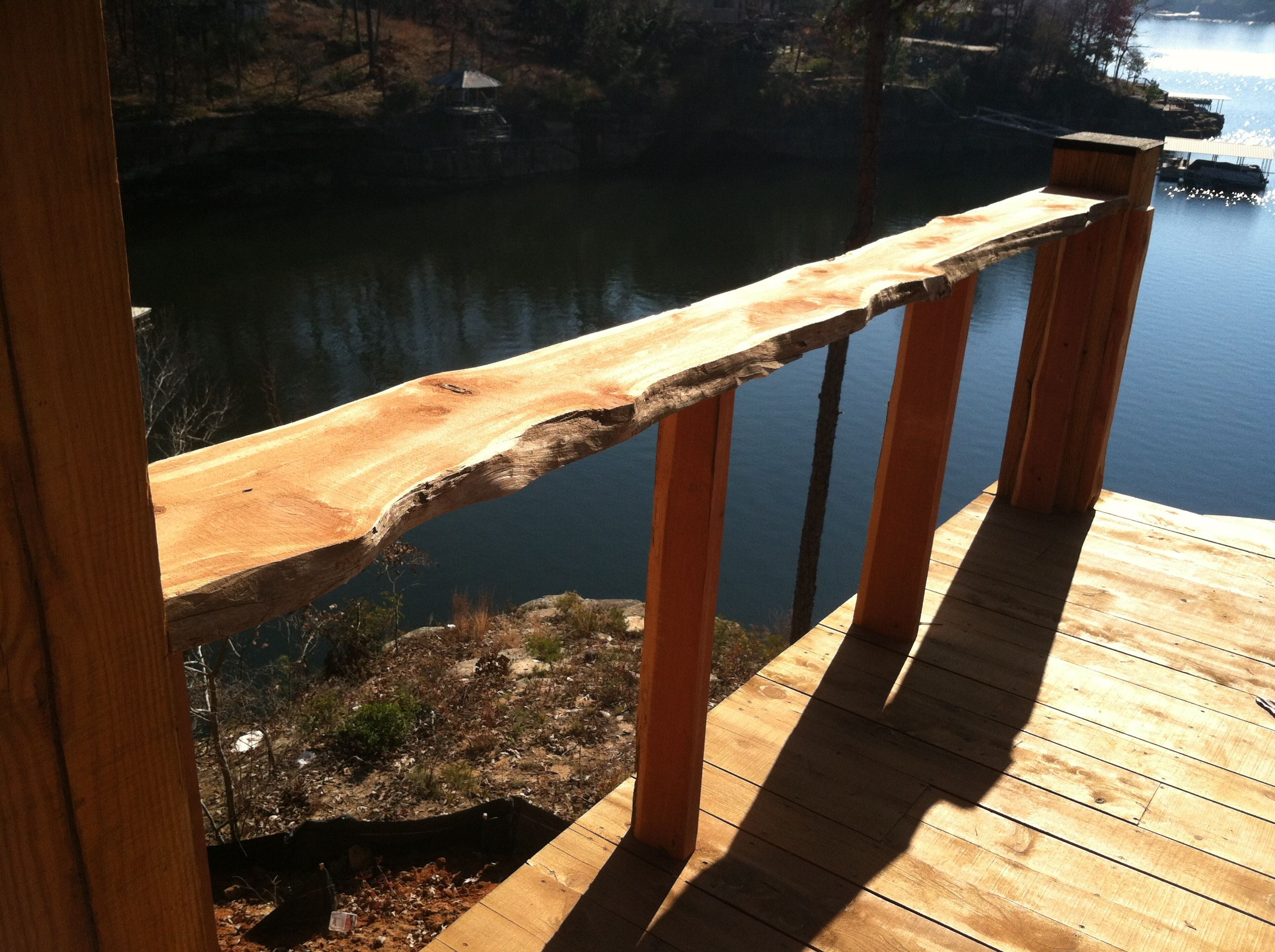 Best Cedar Live Edge Handrail Outdoor Structures Garden Bridge Outdoor 400 x 300