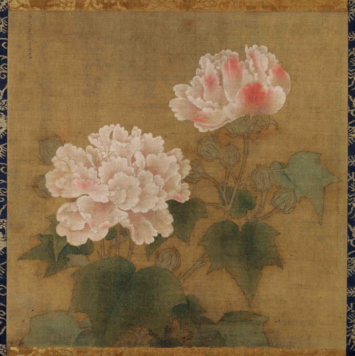 流失日本的国宝:红白芙蓉图