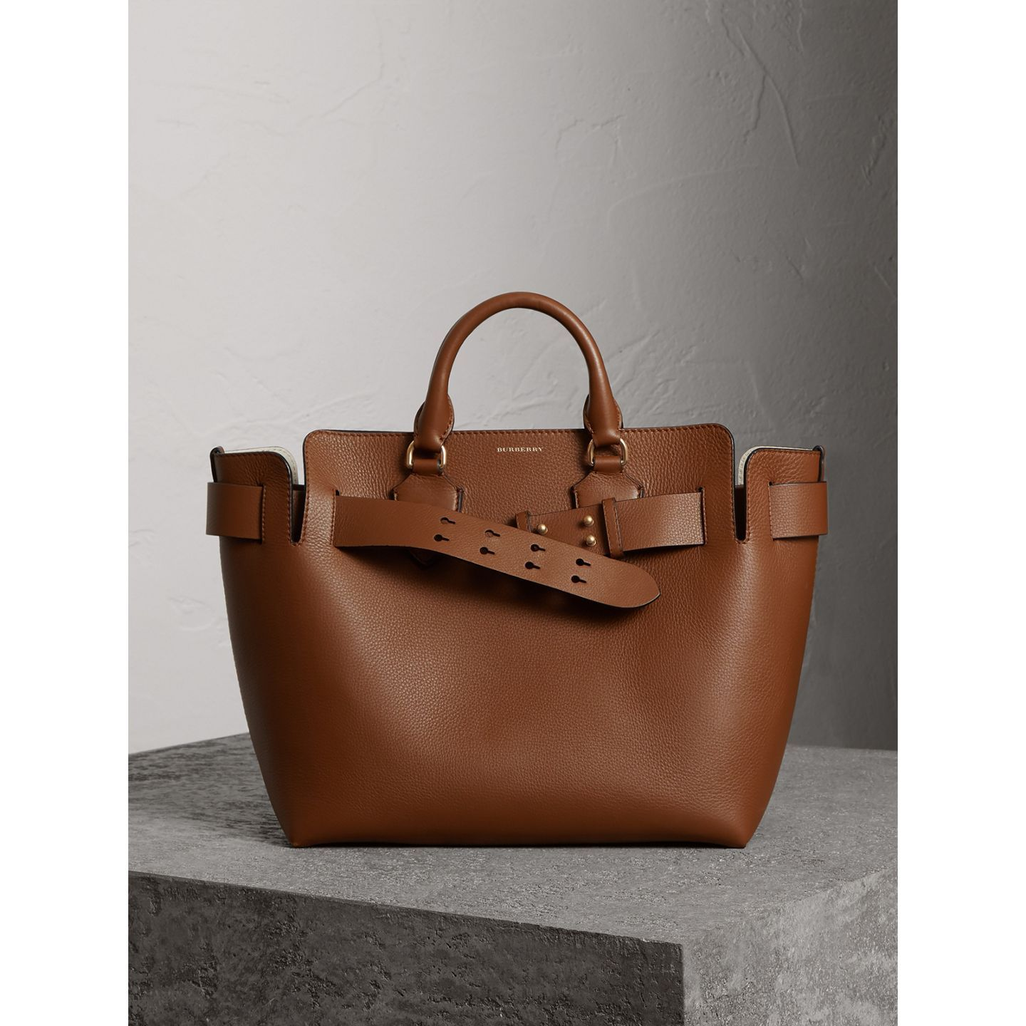 724bd43ad2d The Medium Leather Belt Bag in Tan - Women   Burberry United States