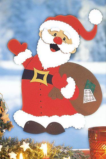 Weihnachtsmann basteln | Karácsony | Pinterest | Xmas, Christmas art ...