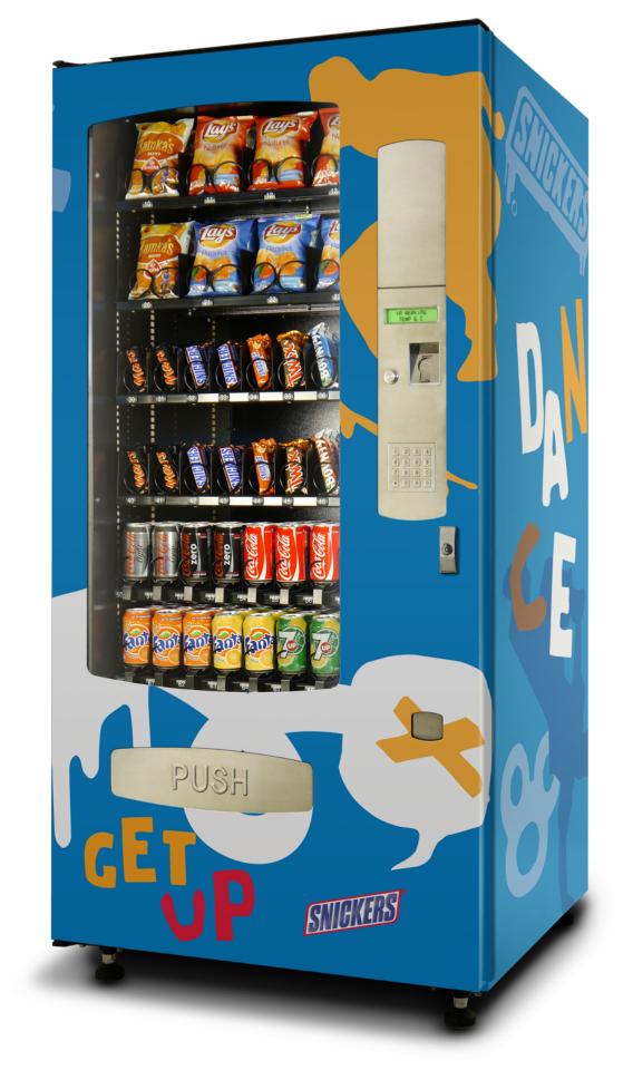 mars vending machine snickers