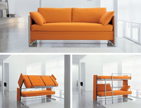 Merveilleux Morphing Furniture  Couch Into A Bunk Bed