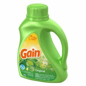 Gain Liquid Detergent With Freshlock For High Efficiency Machines 32 Loads Original Scent 50 Fl Oz 037000127666 Detergent Scents Liquid Detergent Detergent