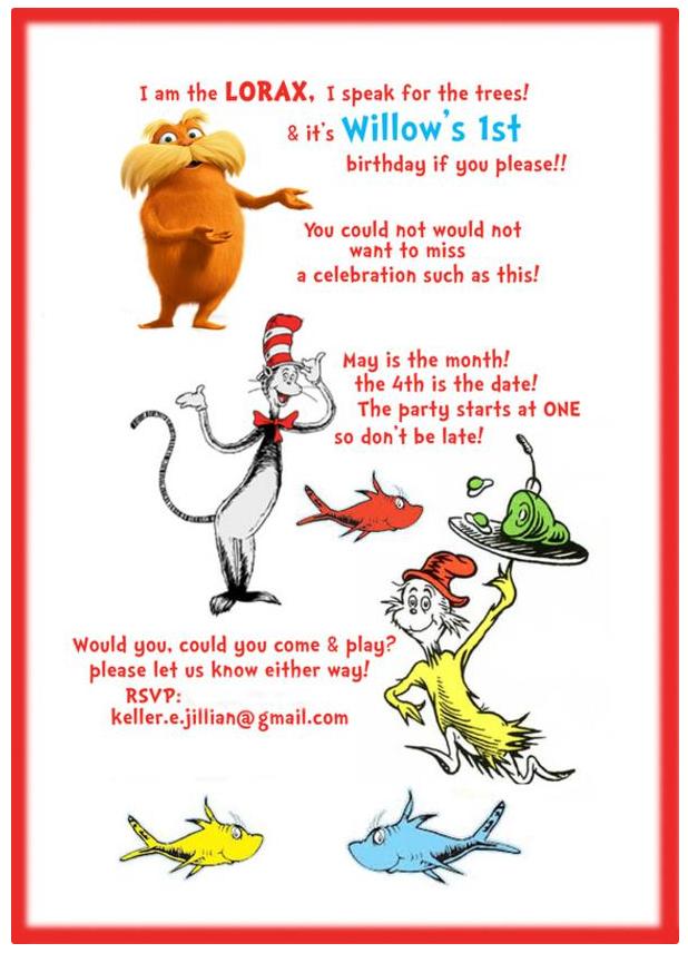 Dr. Seuss Invite | 1st Birthday party | Pinterest | Birthdays