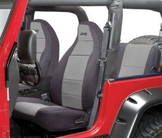 Prime Coverking Part Spc120L Jeep Logo Neoprene Front Seat Machost Co Dining Chair Design Ideas Machostcouk