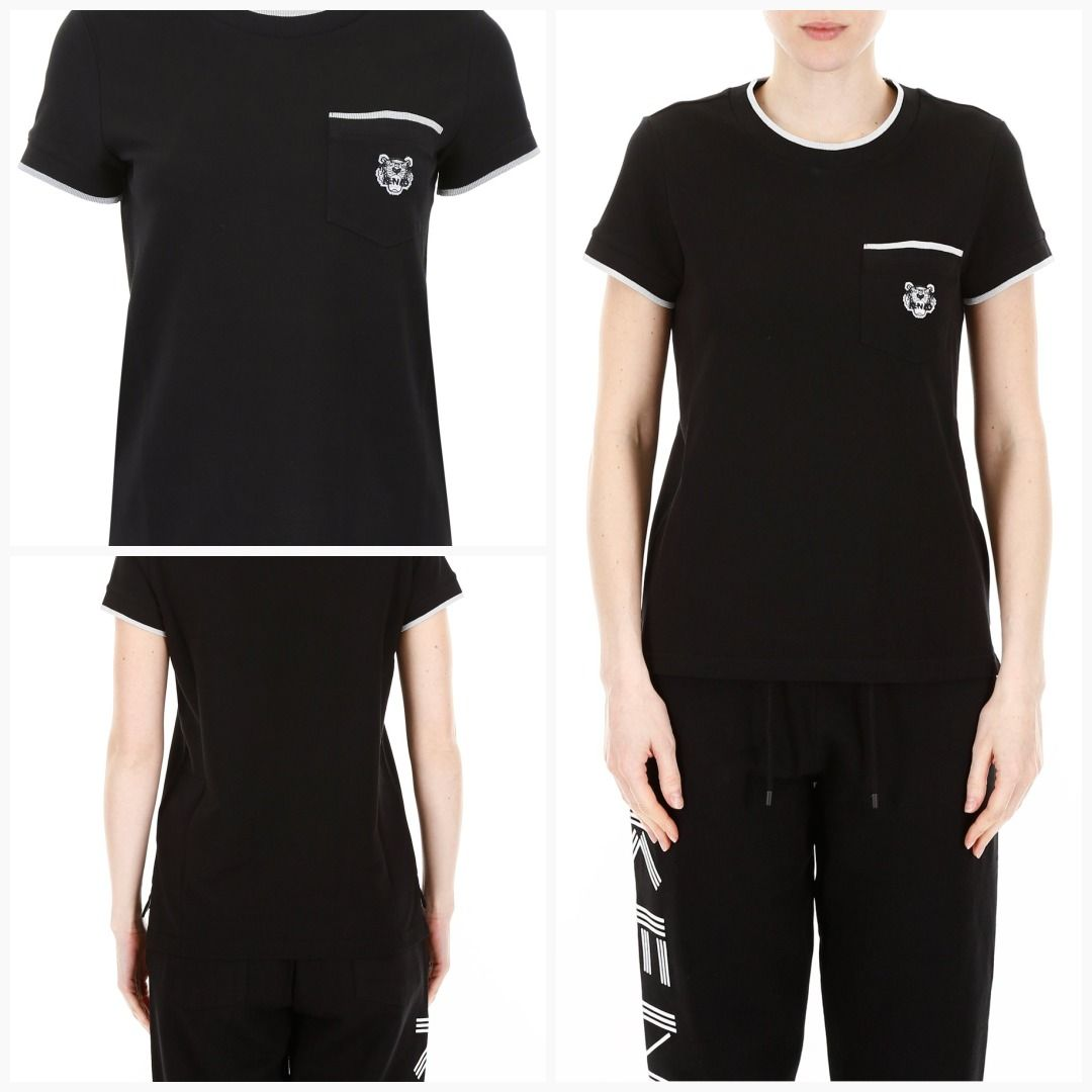 4efc9707d Kenzo t-shirt with tiger patch F752TS858981 Black - See details  amp  price  here
