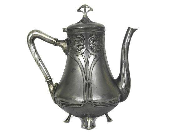 Periods & Styles Antique German Jugendstil Wmf Cofee Pot Art Nouveau