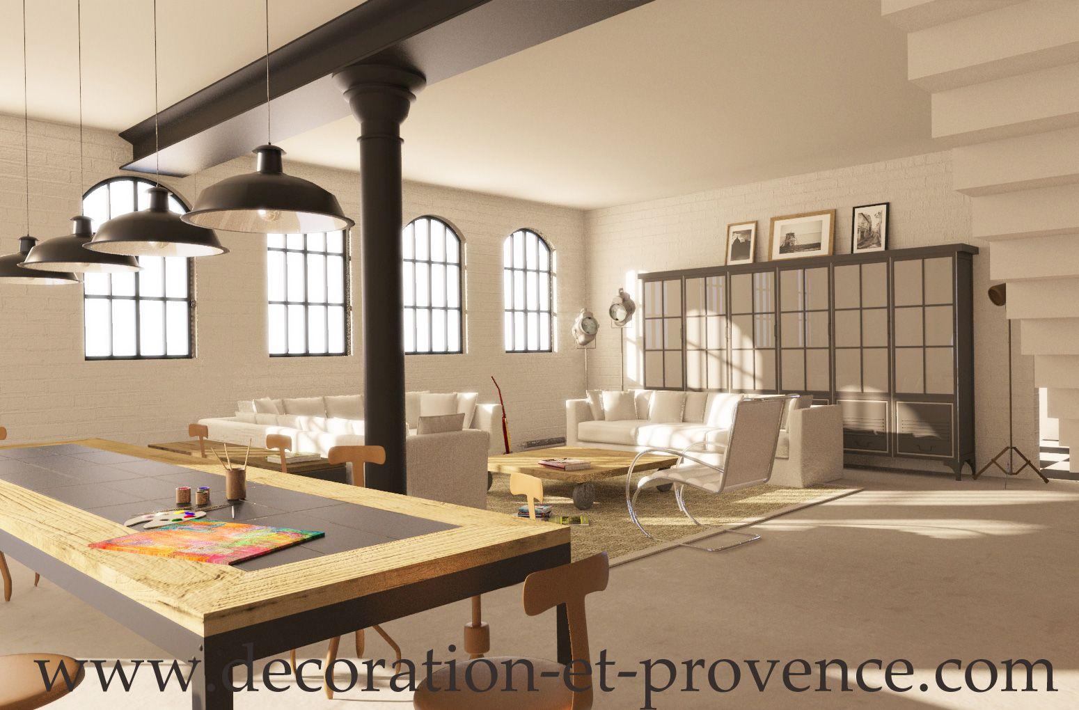 d coration d 39 int rieure d 39 un loft industriel interior design loft industriel mat riaux brut. Black Bedroom Furniture Sets. Home Design Ideas