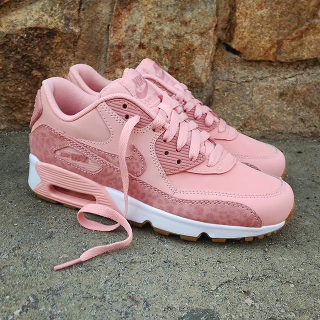 Nike Air Max 90 SE Leather GS shoes pink