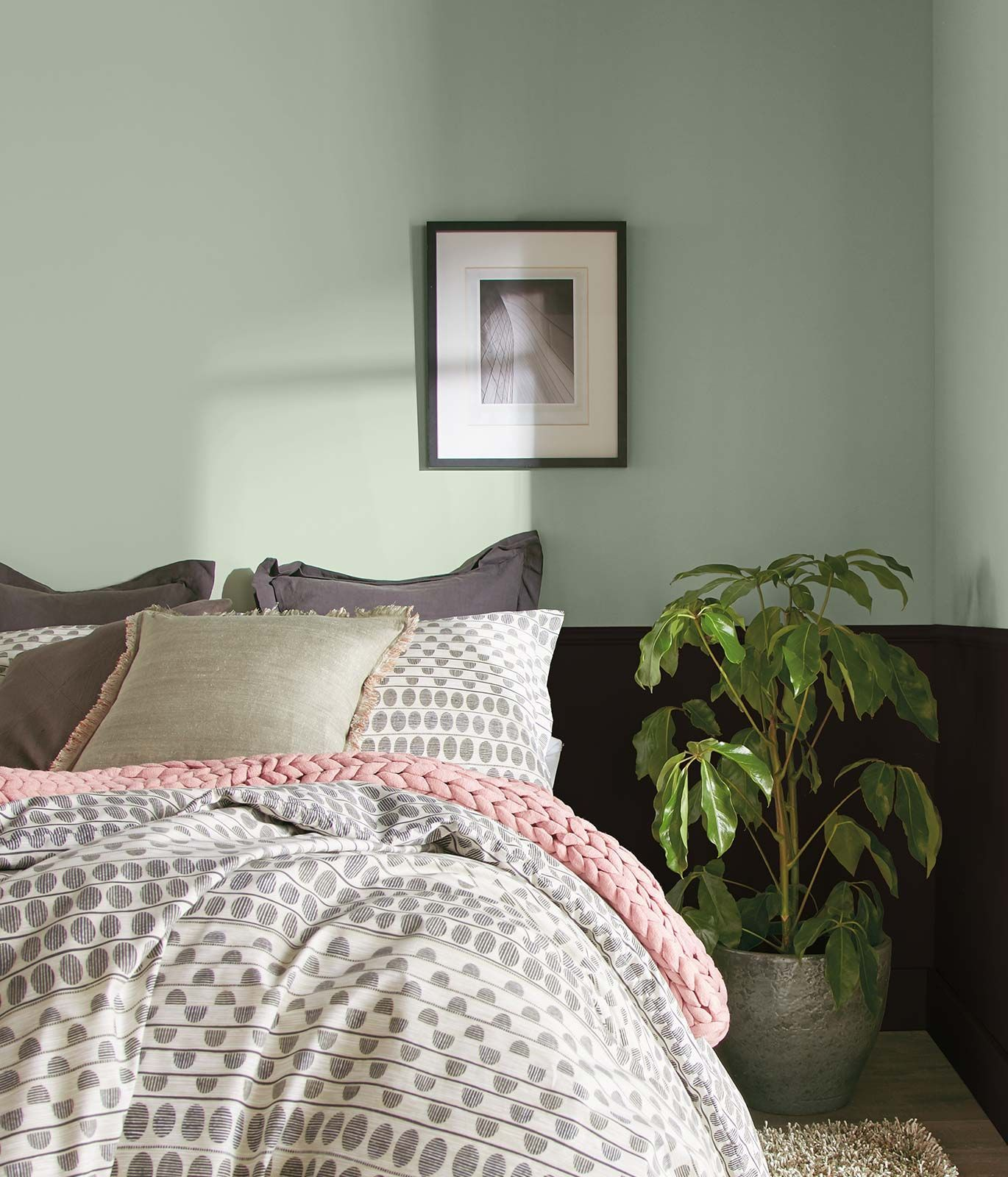 6+ Beautiful GreenGray Bedrooms You Can Recreate Today