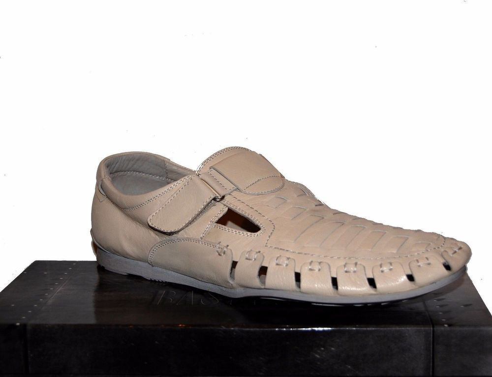 Basconi Off White Men's Loafer Leather Casual Dress Shoes Size US 11 EU 44 #Basconi #DrivingMoccasins