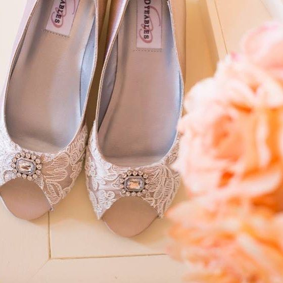 e2d04793b140 Becca   Louise doing some spectacular things with our shoes once again!  Customized bridal shoes