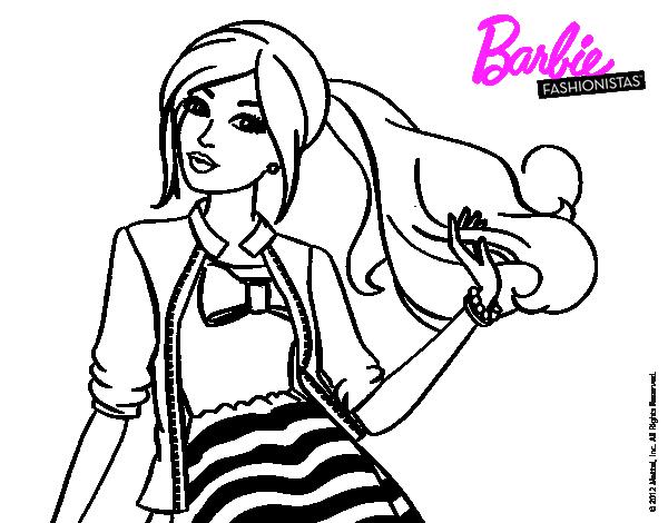 Colorear En Línea: Dibujos De Barbie Para Colorear