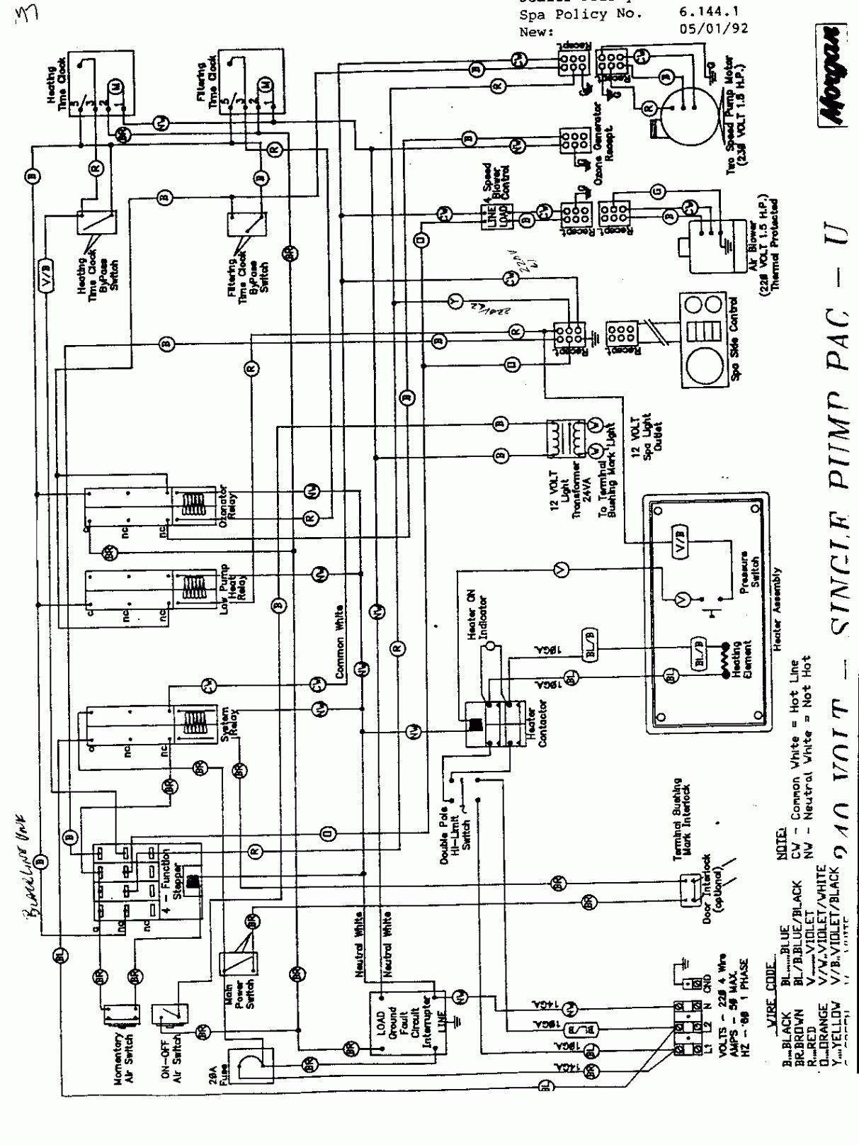 New Gfci Wiring Diagram For Hot Tub Diagram