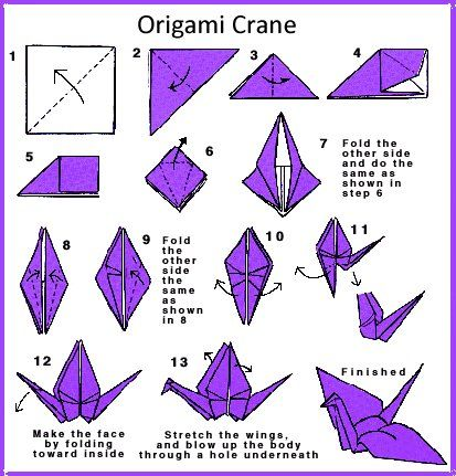 Origami Crane. The Crane Is A Symbol Of Long Life And Peace (With