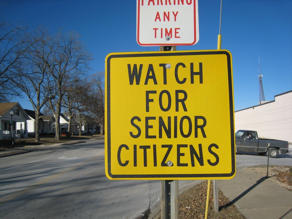 Street Sign Watch For Senior Citizens