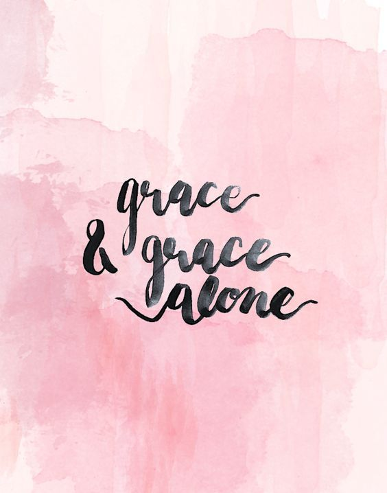 grace & grace alone pink water color background | christian wallpaper, bible verse wallpaper ...
