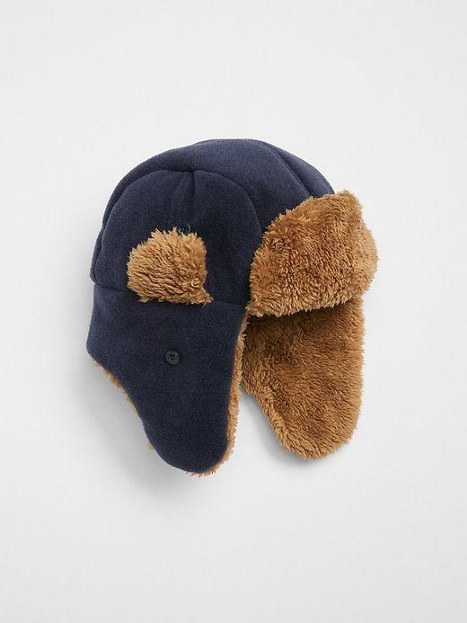 c9d5e02ce93 Gap Boys  Faux Fur Trapper Hat Crayon True Indigo