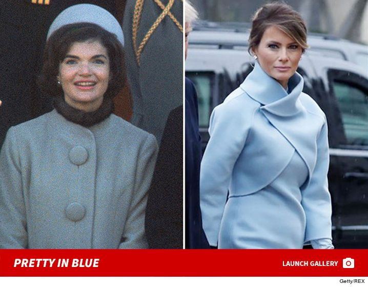 Melania Trump Was At Once Modern And A Throwback As She Emerged From Blair House On Inauguration Day