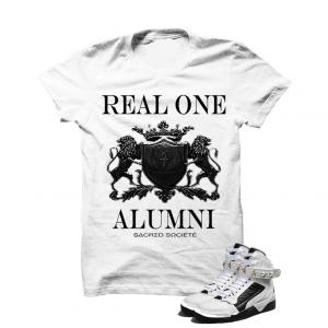 Real One Alumni (Black) White T-Shirt. 100% Cotton High Quality  Description T-Shirt By SACRED SOCIETE