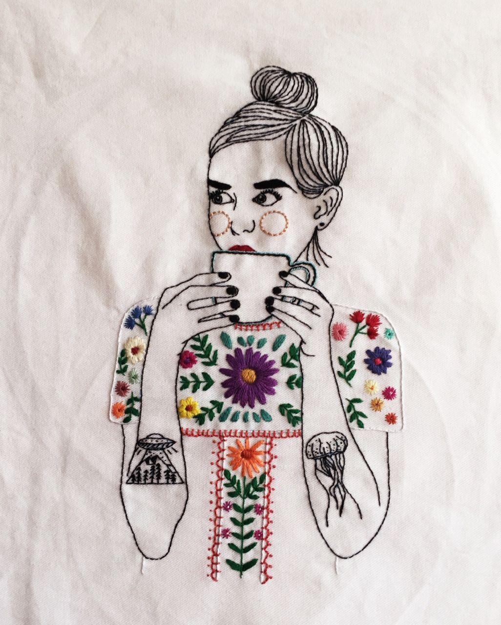 feminist illustration Tumblr | Sew/knit/crochet | Bordado, Bordado ...