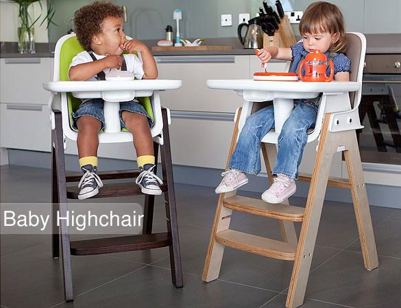 Baby high chair allows your little one to sit and eat in