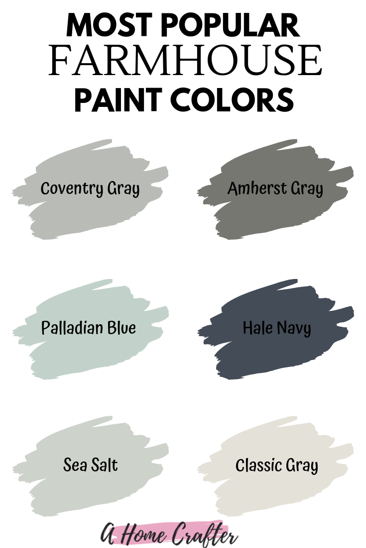 Farmhouse Paint Colors! #halenavybenjaminmoore