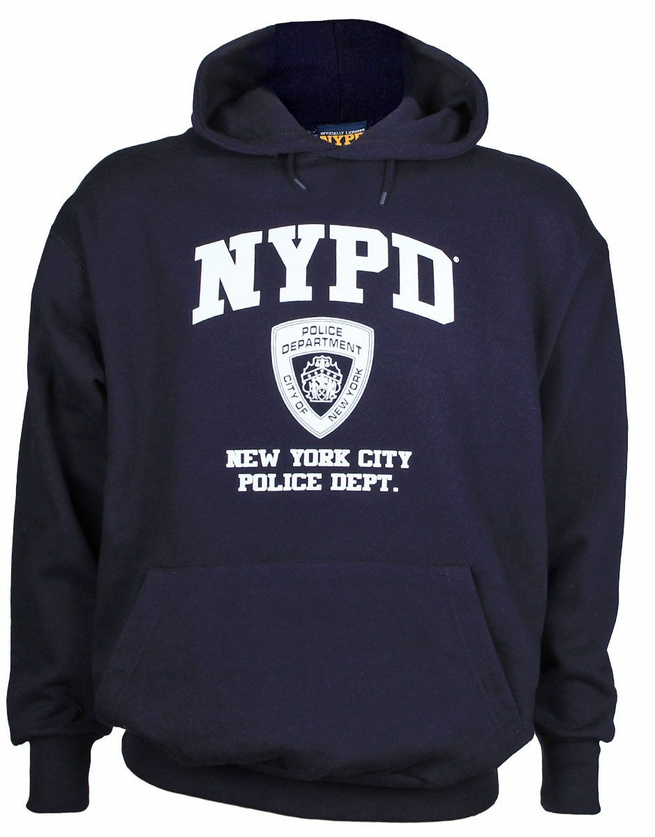 c4183a5c8be NYPD Full Chest Navy Hooded Sweatshirt