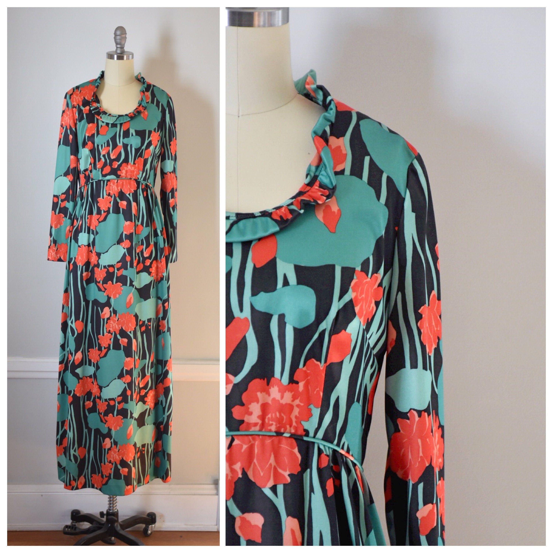 Emilio Borghese Vintage Maxi Dress Vintage Maxi Dress Designer Maxi Dress Vintage Clothing Online