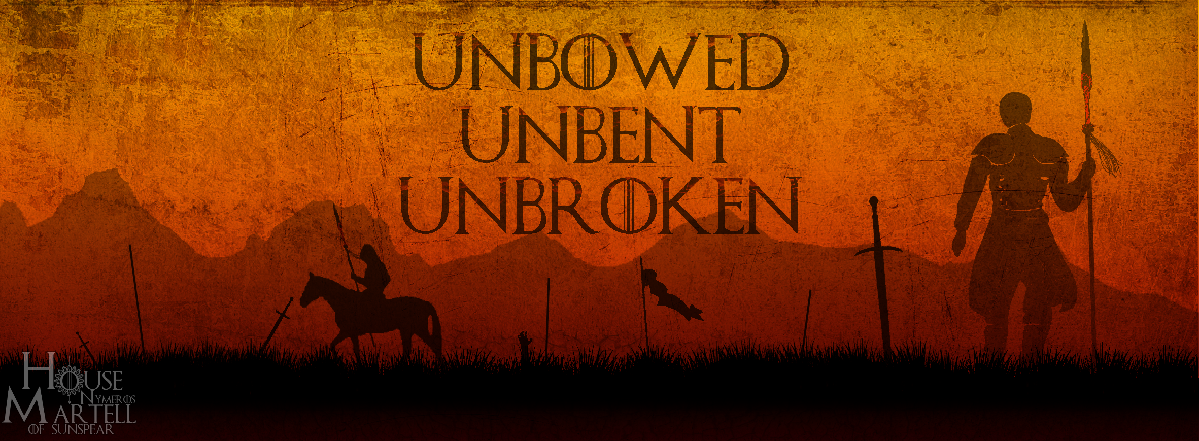 Fb cover House Martell 's words | House Nymeros Martell of Sunspear