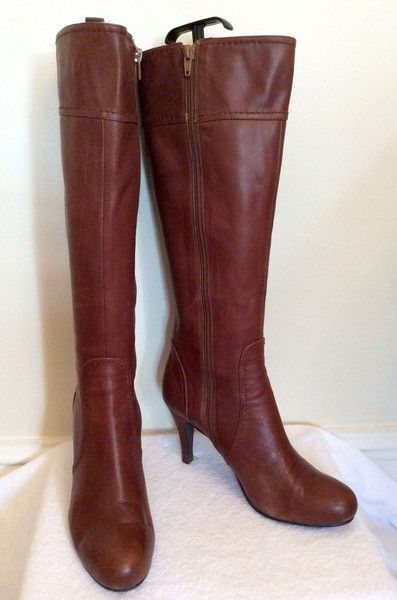 354bcca0feeb STACCATO BROWN LEATHER KNEE HIGH BOOTS SIZE 6 39 - £45 Whispers Dress  Agency - Womens Boots