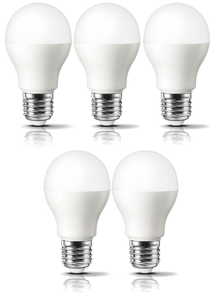 Daylight Led Bulbs: LED Light Bulbs Pack Of 5 With FREE Delivery 60 Watt