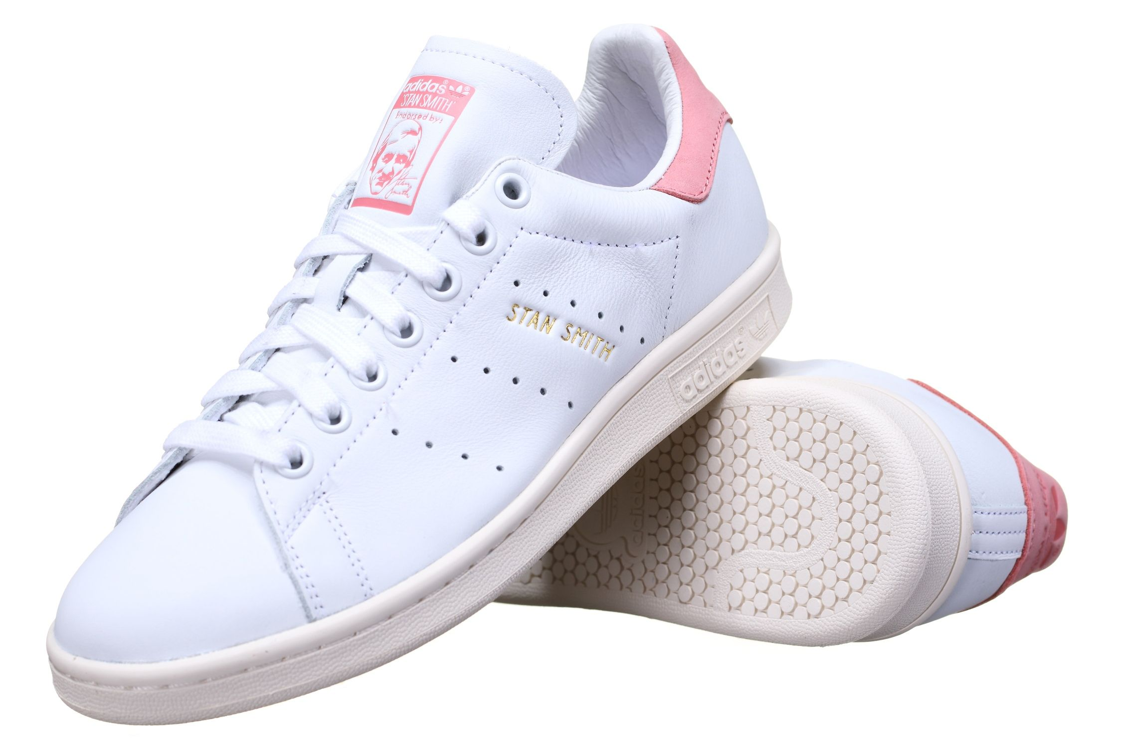 adidas stan smith rose pale blanc