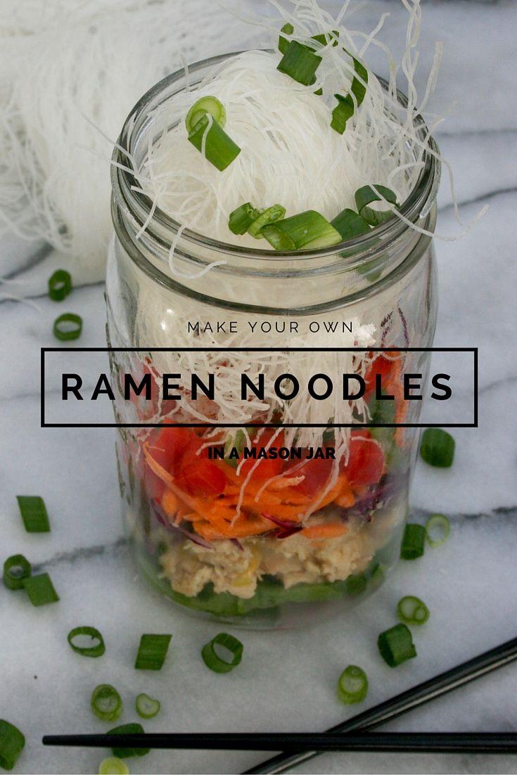 Ramen Noodles in a Mason Jar   Ramen