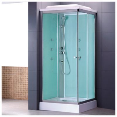 Sensi d 39 acqua cabina de ducha cuadrada 6 jets verde comprar - Cabinas para duchas ...