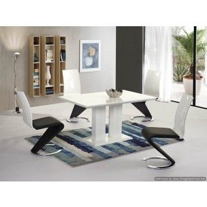 Issa White High Gloss Dining Table   140cm