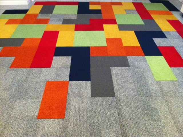Showcase Gallery Tetris Made From Carpet Squares D