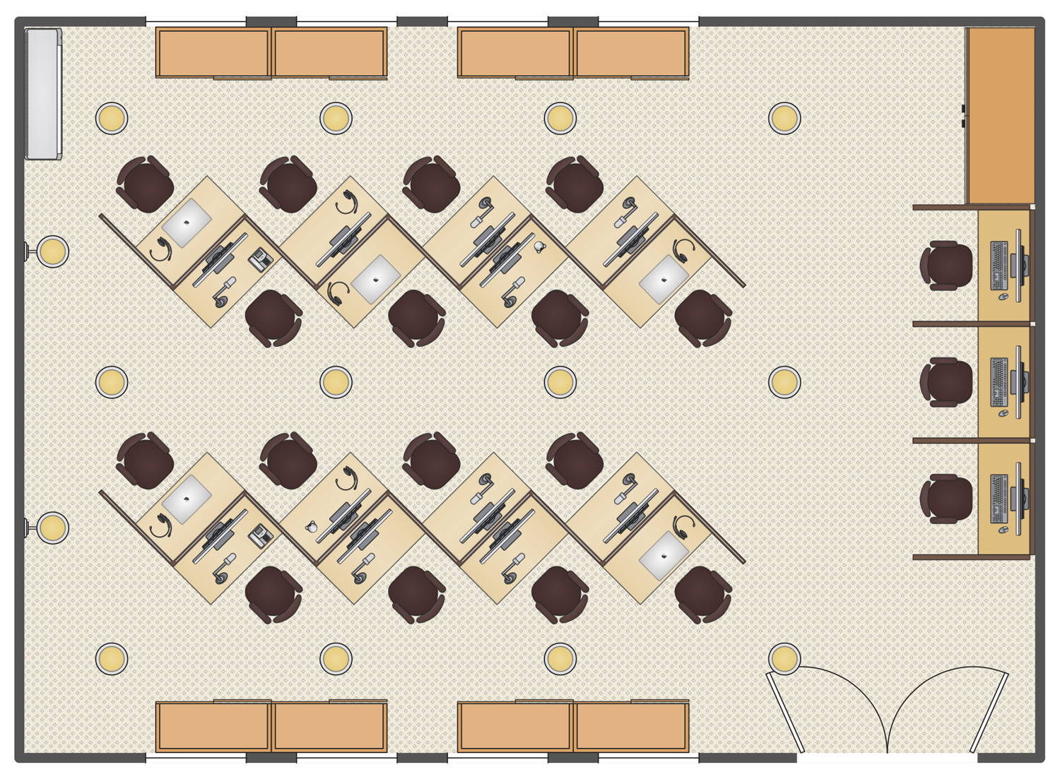 Call Center Plan Office Layout Plan Office Layout Office Space Planning