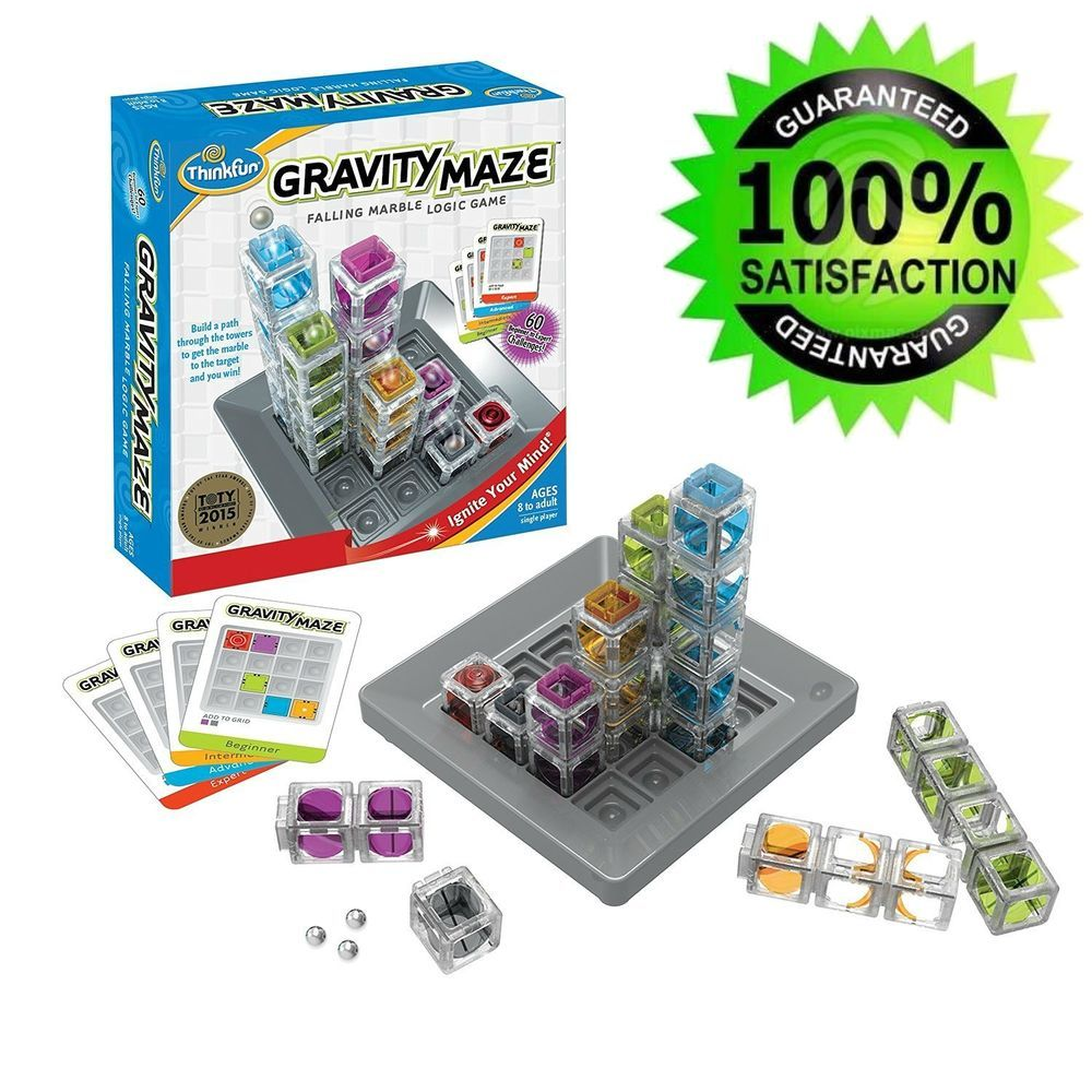 Educational Games For 8 Year Olds Logic Puzzles Kids Marble Maze Gravity Thinkfun Logic Games Toys For Boys Maze Game