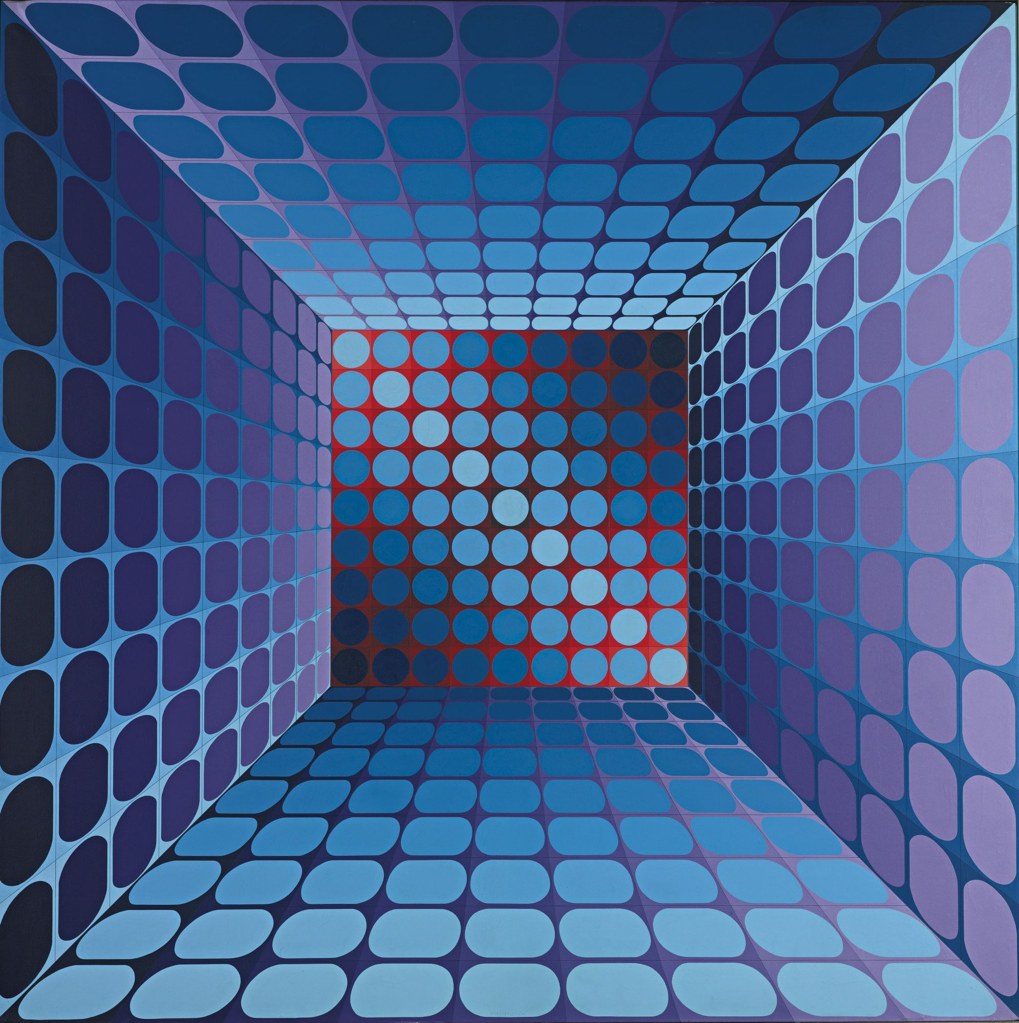 Vasarely Paintings For Sale
