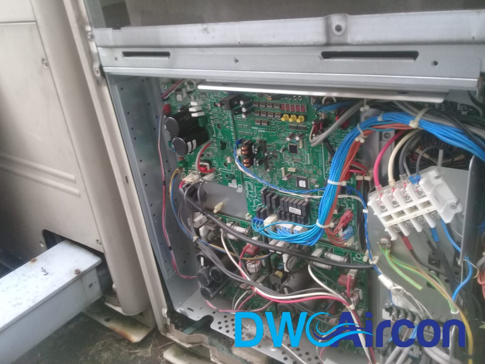 Aircon Condenser, Fan Motor, & Fan PCB Replacement (Aircon