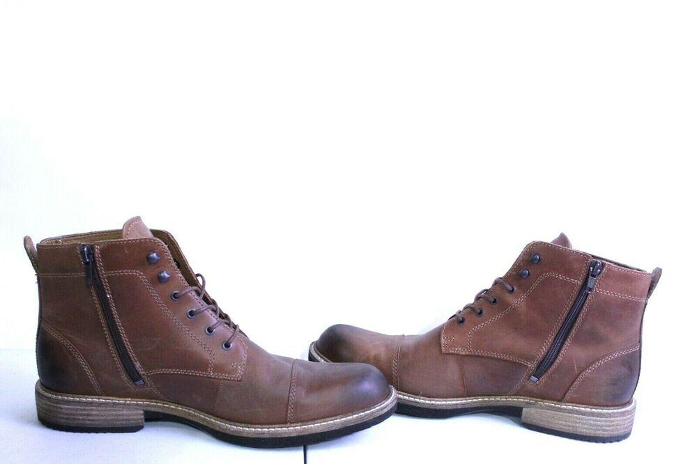 4d3b26744d0 A1-1166 ECCO Kenton Vintage Boot (Cognac Light) Men's Boots SZ 7-7.5 ...