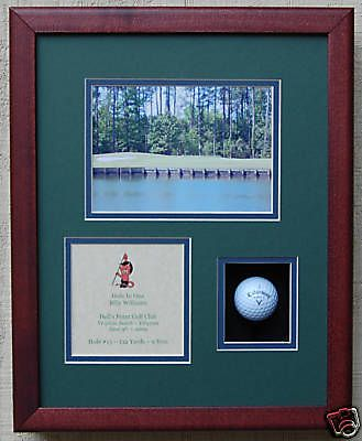 Hole In One Golf Trophy Shadow Box For Golf Ball Ebay Gift Ideas