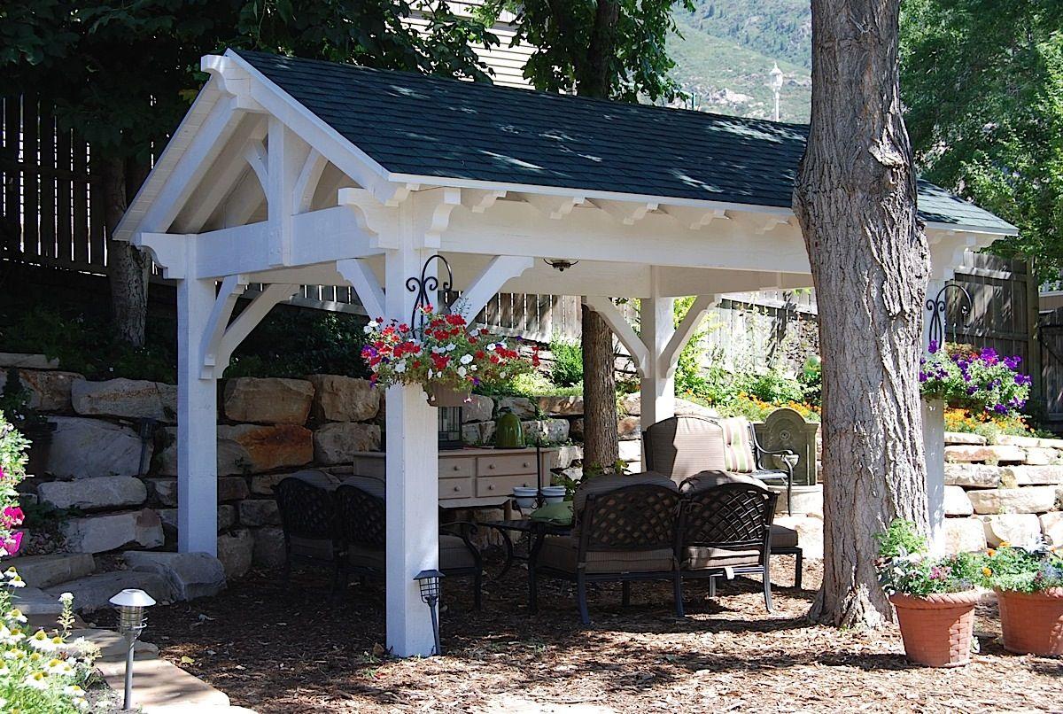 Lady Lair White Pavilion Kit Backyard Pavilion Outdoor Pergola Pergola