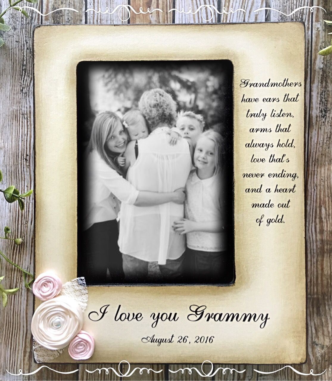 Grandma\'s have ears that truly listen... Grandparent picture Frame ...