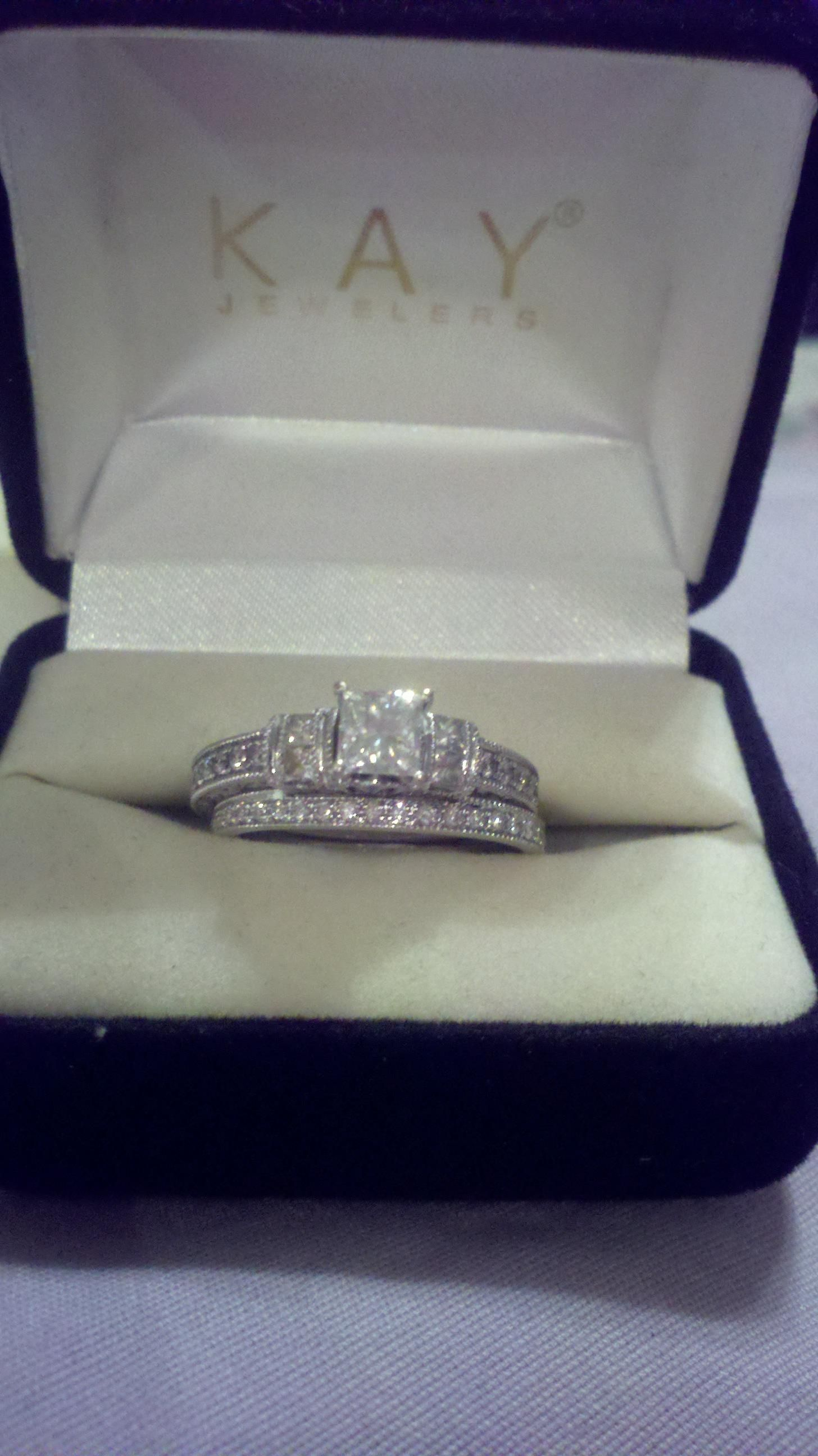 neil lane engagement and wedding ring i really love this one but
