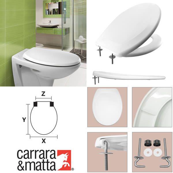 Sedile Wc S12 Spa Bianco Carrara & Matta
